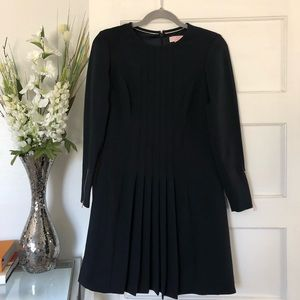 Ted Baker Navy Blue Pleated Dress Size 0